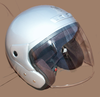 Motorradhelm SCOOTER silber